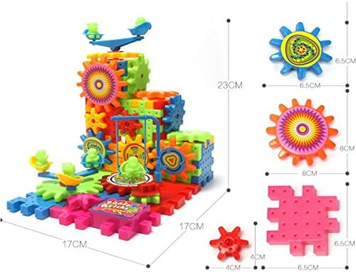 Building Bricks Electric Gears Puzzle Educational Toys For Kids Christmas Gifts