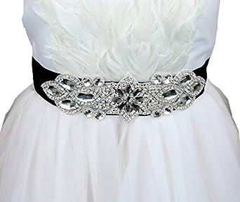 Edwardian Accessories Rhinestone Bridal Belts Bridal Sash Wedding Belt Bridal Dress Sash.  AT vintagedancer.com