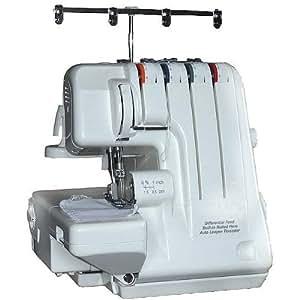 Máquina de Coser Overlock 2, 3, 4 Hilos, Enroscar Fácilmente con Transporte Diferencial + GRATIS 12 Conos de Hilo & Lienzo Llevar Estuche (Lona Bolsa de Transporte)