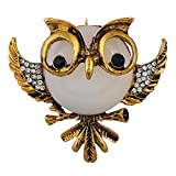 Nikgic Golden Creative Cute Animal Theme Pin Owl Shape Brooch Corsage Pin Clips Brooch Scarf Buckle Sweater Scarves Brooch For Women