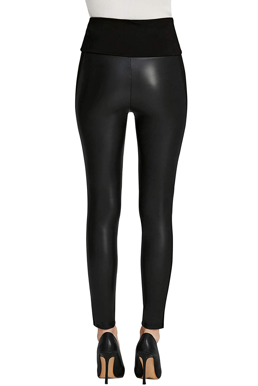 15f6d2b786a90 Everbellus Womens Black Faux Leather Leggings Girls High Waisted Sexy  Leather Pants at Amazon Women's Clothing store: