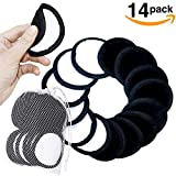 Green Estate Reusable Makeup Remover Pads – 14 Pack With Laundry Bag – Two Tone Microfiber – Black Side For Mascara, Eye Shadow, Lipstick, Foundation – White Side For Toner And Moisturizer.