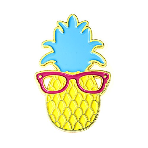 Ms. Clover Pineapple Enamel Pin Cute Fruit Enamel Pins Gifts for Women Cool Lapel Pins for Her. by Ms. Clover (Image #7)