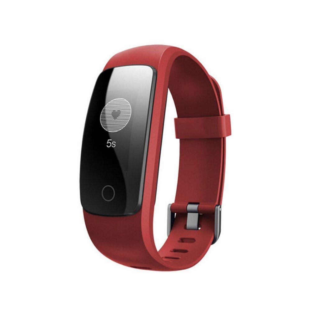 C-Xka Fitness Tracker Smartwatch, Pulsera Inteligente Impermeable GPS para rastreador de Ejercicio con Monitor de Ritmo Cardíaco para teléfonos Inteligentes Android e iOS (Color : Blue) XXN