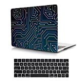 Dongke Case for Newest MacBook Pro 15 Touch Bar with Black Keyboard Cover Unique Design Premium Crystal Hard Sleeve for MacBook Pro 15 inch Retina Model:A1707 (2017 & 2016 Release) (Maze game)