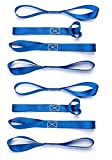 Tools & Hardware : Cartman Soft Loop Tie-Down Straps in Blue Color, 8pk x 18in, 3600lbs