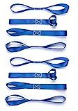 Cartman Soft Loop Tie-Down Straps in Blue Color, 8pk x 18in, 3600lbs