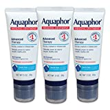Aquaphor Healing Ointment With Touch-Free Applicator - For Dry, Chapped Skin - 3 oz. Tube (Pack of 3)