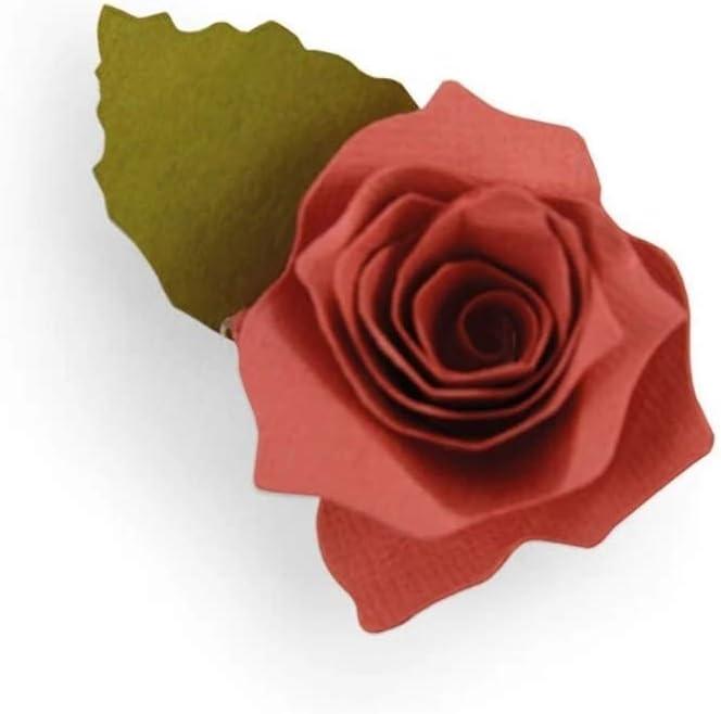 3 teilig 5x6 cm Stanzschablone// Cutting dies Seerose 3D Rose