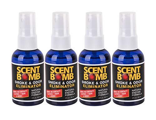 Scent Bomb - Instant Smoke & Odor Eliminator for Home, Office & Car Air Freshener - 2oz, Pack of 4