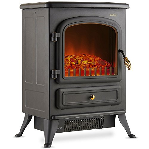 VonHaus Electric Fireplace Stove Heater Portable