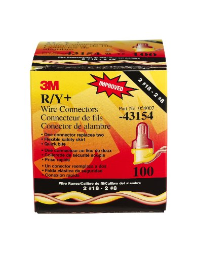 3M R/Y+BOX Performance Plus Wire Connector (Pack of 100)