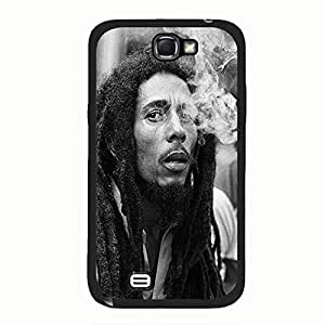 Stylish Classical Smoking Design Super Singer Bob Marley Phone Case Cover for Samsung Galaxy Note 2 N7100 Bob Marley Awesome