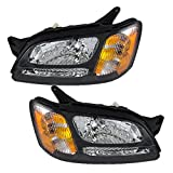 Driver and Passenger Headlights Headlamps Replacement for Subaru Pickup Truck 84001AE15A 84001AE14A