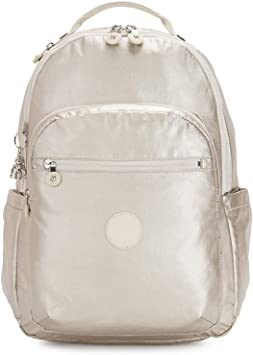 Kipling SEOUL Mochila escolar, 44 cm, 27 liters, Dorado (Cloud Metal): Amazon.es: Equipaje