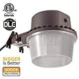 TORCHSTAR Dusk-to-dawn LED Outdoor Barn Light (Photocell Included), 35W (250W Equiv.), 3000K Warm White Floodlight, DLC & ETL-listed Yard Light for Area Lighting, 5-year Warranty, Bronze