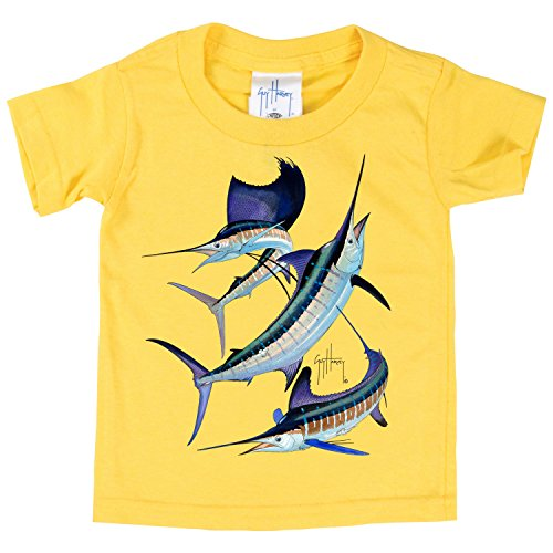 Guy Harvey Grand Slam Toddler Baby Infant T-shirt (3T, Daisy (Toddler Girls Ribbed Sleeveless Top)