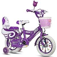 Geekbot Vélo Enfant Fille 12 Pouces - Velo Enfant de 3-8 Ans - Pneu Gonflable -siège Comfortable - Petit pagné - vélo Princesse Pneu Blanc - Protection de sécurité Offerte