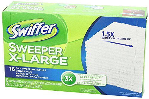 Swiffer Sweeper XL Dry Sweeping Pad Refills for Floor mop Unscented 16 Count (Pack of 6) by Swiffer (Image #6)