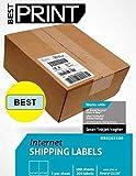 "Best Print 200 Half Sheet - Best Print Shipping Labels - 5-1/2"" X 8-1/2"""