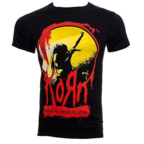 Korn Men's Stage T Shirt - Small, Black (Printed T-shirts Korn)