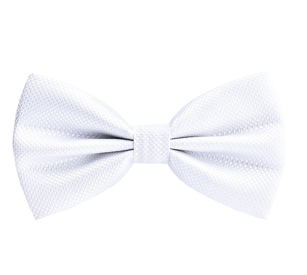 Mens Classic Pre-Tied Bow Ties Formal Tuxedo Bowtie Adjustable Length for Wedding Party Fancy Plain Bowties Necktie