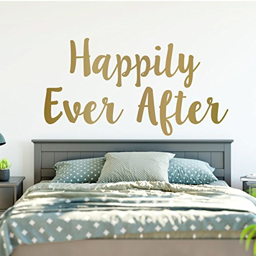 Happily Ever After Sign - Fairytale Vinyl Wall Sticker for Home, Bedroom, Playroom Decoration - Weddings, Showers, Boutiques, Anniversary ()