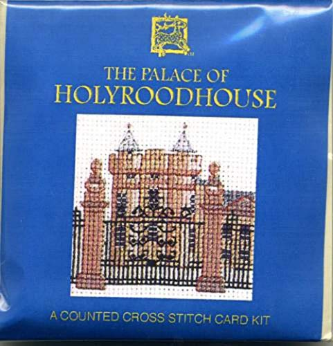 Textile Heritage The Palace of Holyroodhouse Miniature Card Cross Stitch Kit