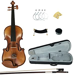 Kinglos YWA1005 4/4 Full Size Handcrafted Solid Wood Student Acoustic Violin Fiddle Starter Kit 51 2B 2BGgoZl3L