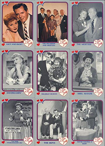 I LOVE LUCY 1991 PACIFIC GRAY GREY BORDER COMPLETE BASE CARD SET OF 110 TV