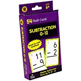 Carson Dellosa - Subtraction Flash Cards 0 to 12 - 54 Cards with 100 Math Problems for 1st, 2nd and 3rd Grade Math, Ages 6+ with Bonus Game (Brighter Child Flash Cards)