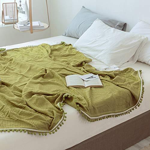 FOREVER-YOU Dreidimensionale geprägte Fransenkugel-Knie-Decke, Decken-Klimatisierungs-Decken-Deckenbaby, 1 * 1,5M, A
