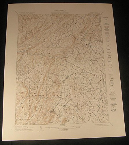 Fairfield Liberty Hall School Pennsylvania 1929 vintage color Geology map