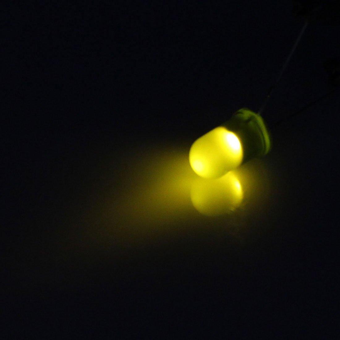 eDealMax DE 5 mm Couleur Vert 2 LED Borne Light Emitting Diodes ampoule Lampes