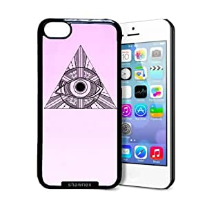 Shawnex Eye In Triangle iPhone 5C Case - Thin Shell Plastic Protective Case iPhone 5C Case
