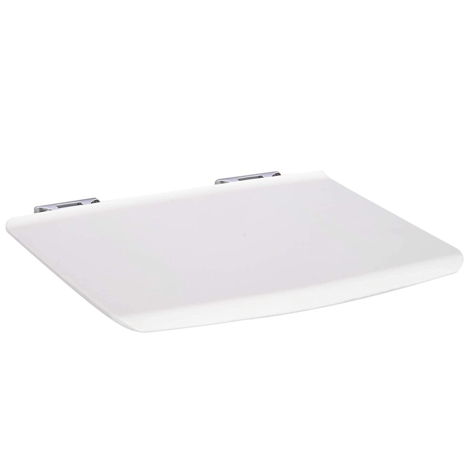 White Croydex Wall Mounted Fold-Away Shower Seat no fixings included in pack