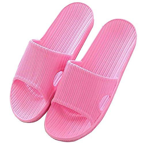 Plancher Chaussures Sandales Flip Gym Unisexe Été Antidérapant Pantoufles Bains B Piscine Thongs Femme Plates de Minetom Chaussons Vif Homme Rose Flops Femme Plage Salle PFwAT4xxqz