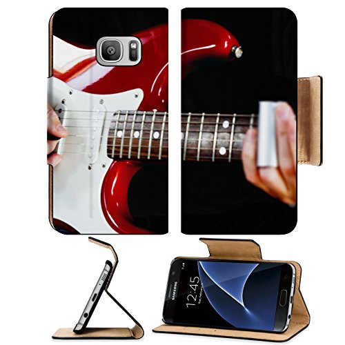 ung Galaxy S7 Flip Pu Leather Wallet Case IMAGE ID 31511081 Guitarist playing vintage fender stratocaster guitar (Chargers Fender Purse)