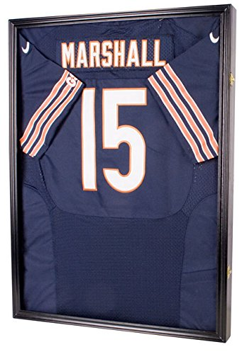 UV Protection Baseball / Football Jersey Frame Display Case Shadow Box, BLACK (Autographed Shadow Box)