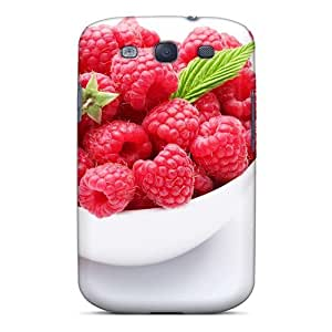 Premium Protection Food Berries Fruits Nuts Ripe Raspberries 03 Case Cover For Galaxy S3- Retail Packaging