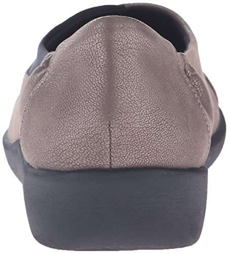 Women's Flat CloudSteppers Nubuck Sillian Pewter Synthetic Jetay CLARKS aSpqBxSg