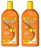 NO-AD 8 Protective Tanning Lotion, SPF 8 16 fl oz (Pack of 2)