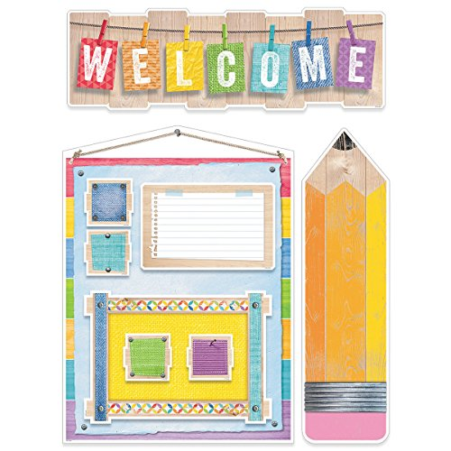 Creative Teaching Press Upcycle Style Welcome Bulletin Board (Pencil Board Set)