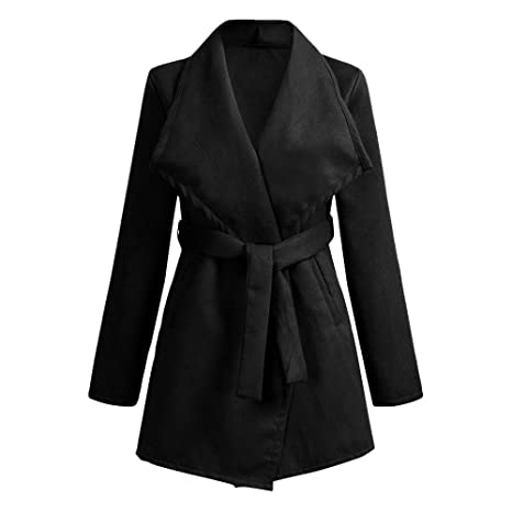 Amazon.com: Besde Womens Clearance Lapel Wool Trench Jacket ...