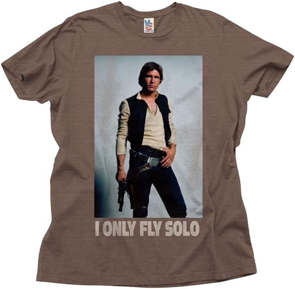 Star Wars Men's Star Wars I Only Fly Solo T-Shirt