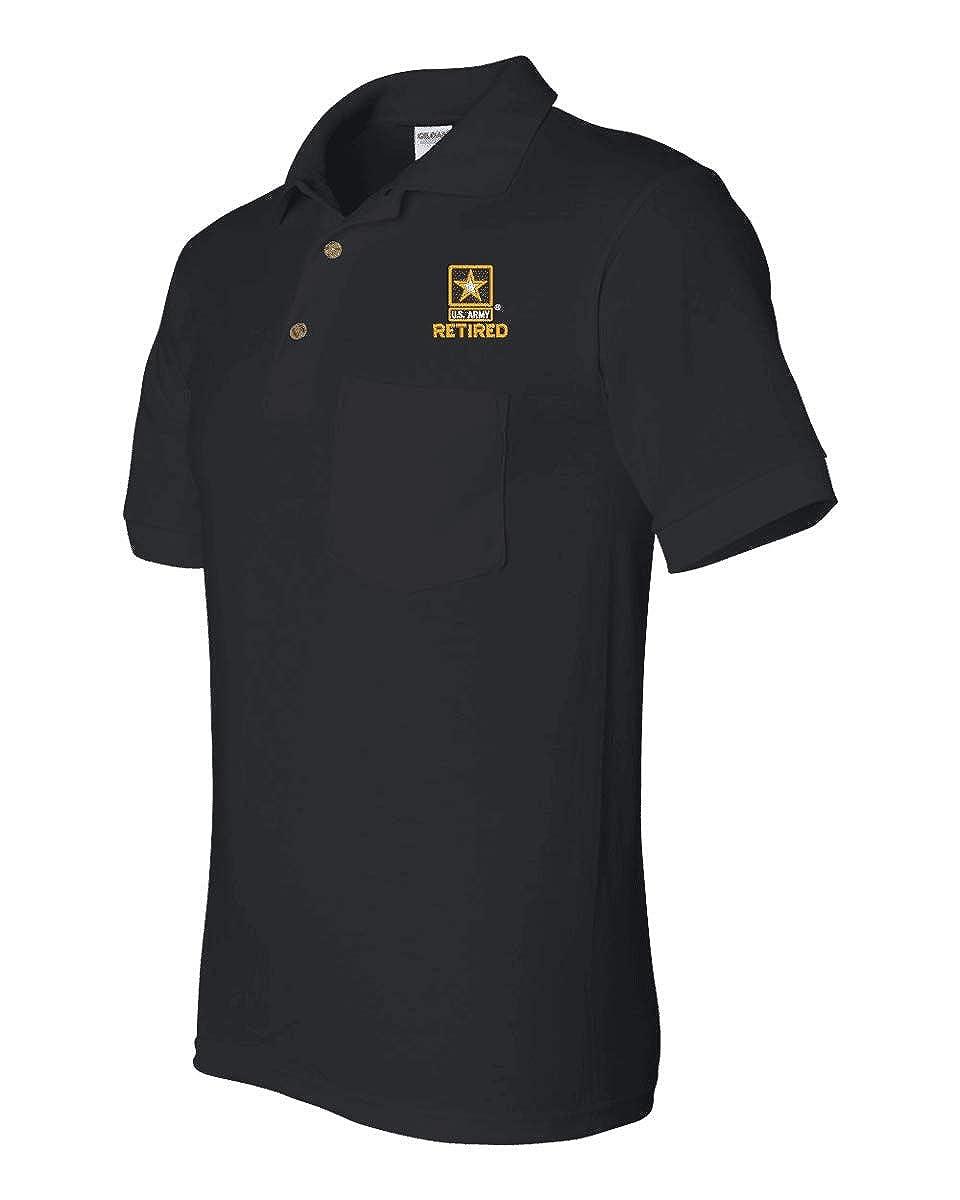 Army Retired Pocket Polo MilitaryBest U.S