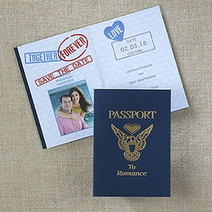 100 Passport to Romance - Save the Date by Printing Demand