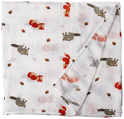 lulujo Baby Swaddling Blanket Friends