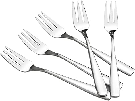 Bistro Cocktail Forks HOMMP Fruit Fork 16-Piece Stainless Steel Two Prong Forks