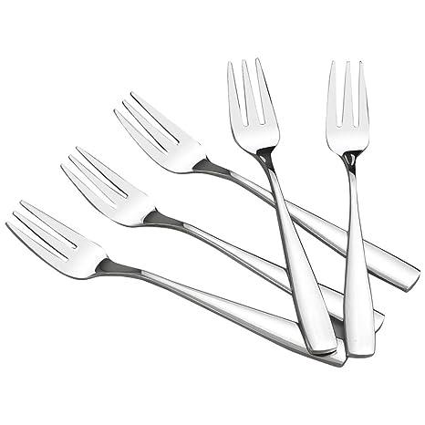 Amazon.com: HOMMP Juego de tenedores de postre de acero ...